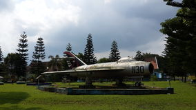 Mig17 monument in Indonesië Royalty-vrije Stock Afbeeldingen