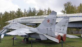 MiG--29-Multipurposekämpe (1977) max hastighet km/h-2450 Royaltyfria Foton