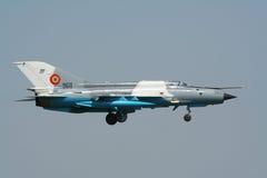 MiG-21 myśliwiec Zdjęcia Royalty Free