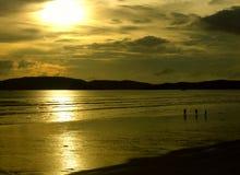 mig mystic solnedgång Arkivbild