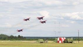 Mig-29 no airshow Kubinka Imagens de Stock Royalty Free
