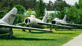 MiG-17 och MiG-19 är ryskt sovjetiskt hög-underljuds- Arkivbilder