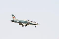 MiG på Bucharest AirShow Royaltyfria Foton