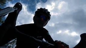 Mig på cykeln arkivbilder