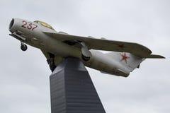 MiG-15 på postamente Royaltyfria Foton