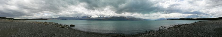 mig panorama- lakeliggande Royaltyfri Foto