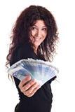 mig pengarshow arkivfoton