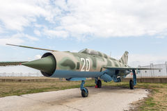 MIG 21 PF Fishbed D Jet Fighter Photographie stock