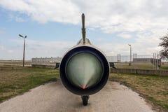 MIG 21 PF Fishbed d myśliwiec odrzutowy Fotografia Royalty Free