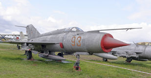 MiG-21 PFS-Front-line jet fighter(1957) Royalty Free Stock Image