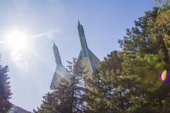 Mig-15 planes War memorial in Krasnodar Royalty Free Stock Image
