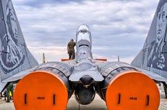 Mig-29 polonais dans la peinture spéciale sur Radom Airshow, Pologne Photographie stock