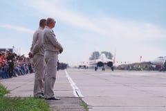 Mig 29 przyśpieszający na pasie startowym Zdjęcia Royalty Free