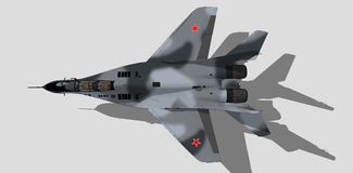 Mig 29, russian military aircraft, fighter jet, sketch Royalty Free Stock Image