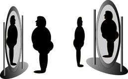 mig spegel vs Arkivbild