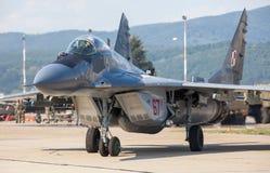 Mig-29 steunpunt Stock Afbeeldingen