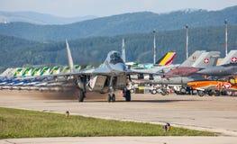 Mig-29 steunpunt Stock Foto