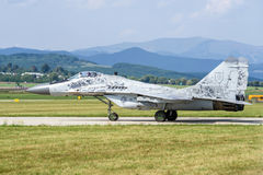 Mig-29 steunpuntjet Stock Foto
