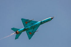 MIG-21 supersonic jet fighter aircraft Royalty Free Stock Photography