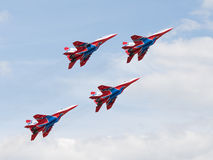 MiG-29 Swifts aerobatic Team Lizenzfreie Stockbilder