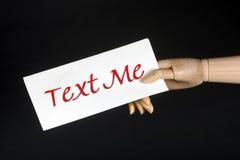 mig text Fotografering för Bildbyråer