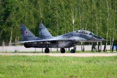 MiG-29UB da força aérea do russo na base da força aérea de Kubinka Fotos de Stock Royalty Free