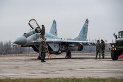 MiG-29 ucraino Fotografia Stock Libera da Diritti