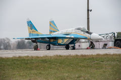 MiG-29 ucraino Immagini Stock Libere da Diritti
