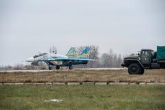 MiG-29 ucraino Fotografie Stock Libere da Diritti