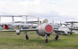 MIG-15UTI-喷气机训练战斗机(1949) 加加林, Terechkova 库存图片