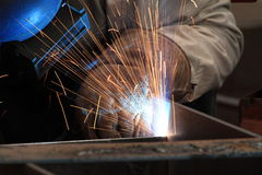 MIG welder Stock Photo