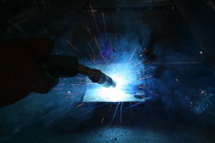 Mig Welding Flare Royalty Free Stock Images