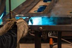 MIG welding Stock Image