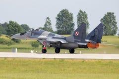 MiG-29 zdejmował Zdjęcia Royalty Free