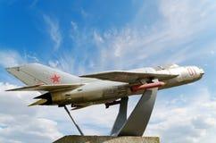 MiG19纪念碑 免版税库存图片