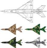 MiG21 cammo Stock Photos