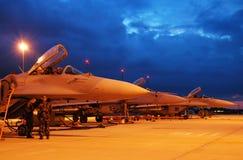 MiG29s en zona Fotografía de archivo libre de regalías