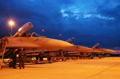 MiG29s na zona Fotografia de Stock Royalty Free