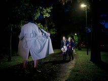 Migacz przy noc Fotografia Royalty Free