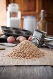 Migalhas de pão caseiro Imagens de Stock