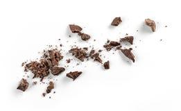 Migalhas pequenas do chocolate imagens de stock