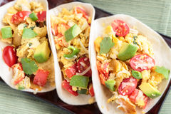 Migas Tacos Stock Photo