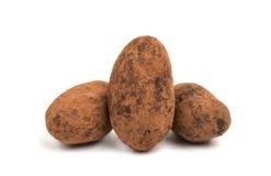 migdałów czekoladowego ścinku odosobniony ścieżki biel Obrazy Royalty Free