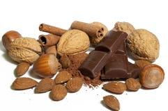 migdałów czekolady dokrętki Fotografia Stock