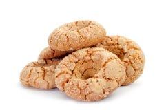 migdałowi donuts typowi Andalusia, Hiszpania Zdjęcia Stock