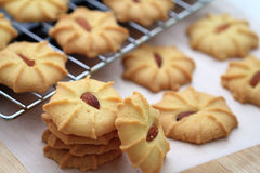 Migdałowi maseł ciastka Obraz Royalty Free