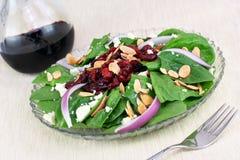migdałowy cranberry sałatki szpinak Fotografia Stock
