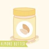 Migdałowy masło w słoju Zdjęcia Stock