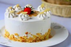 Migdałowy karmelu tort Fotografia Stock