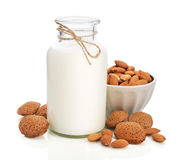 Migdału mleko Zdjęcia Royalty Free
